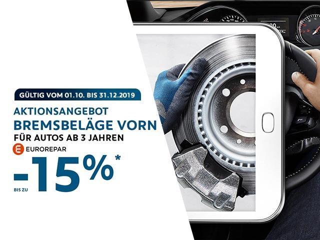 Aktionsangebot-bis Dezember-Bremsbelage-PEUGEOT-EUROREPAR.