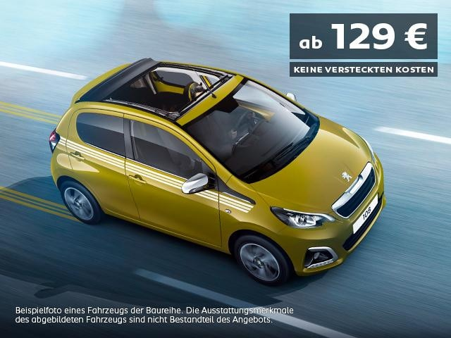 PEUGEOT 108 Top Collection Sondermodell mit attraktiven Leasingkonditionen entdecken