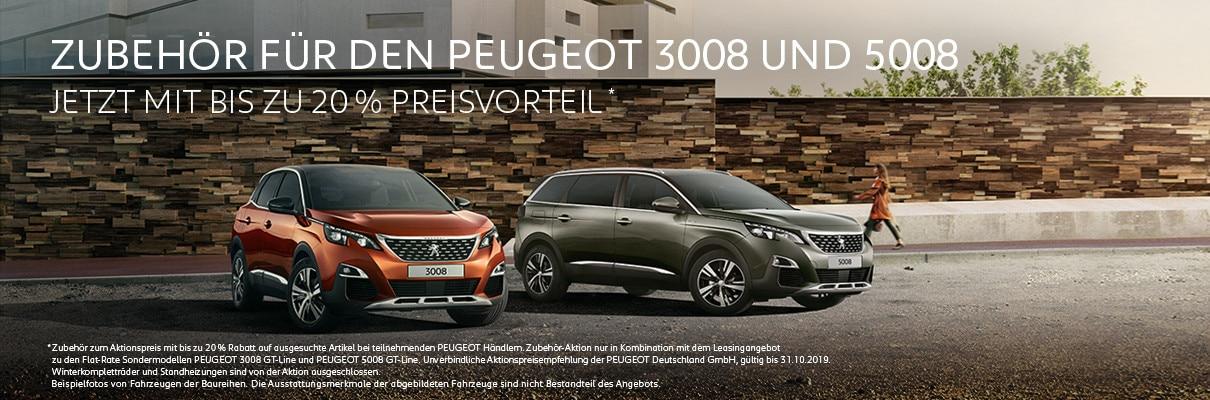 PEUGEOT Zubehoer-Aktion zum Flat-Rate Sondermodell PEUGEOT 3008 GT-Line und PEUGEOT 5008 GT-Line