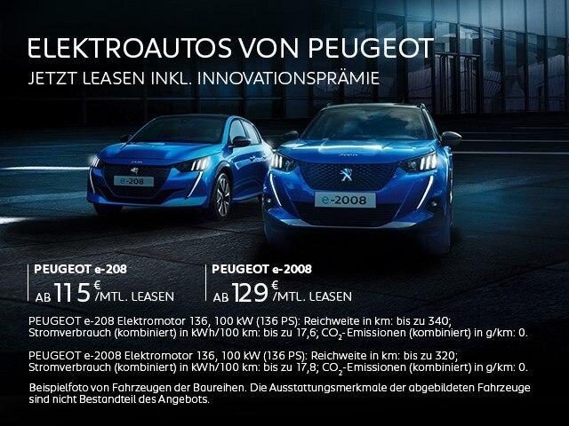 Elektroautos von PEUGEOT – Leasing Angebote entdecken