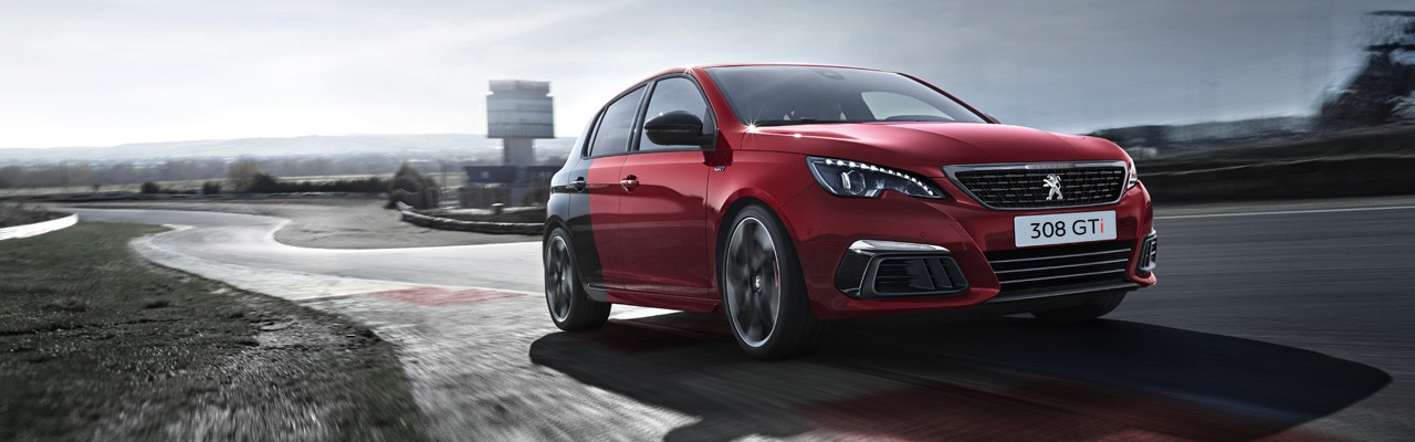 PEUGEOT 308 GTi rot Coupe Franche sportliches Design