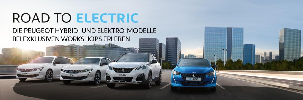 Road to Electric Tour mit Elektro- und Plug-In Hybridfahrzeugen von PEUGEOT