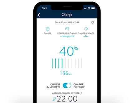 Ladezustand Ihres PEUGEOT ueber App managen
