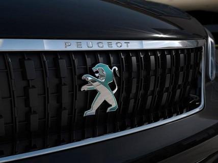 PEUGEOT e-Traveller Business mit Elektromotor – Front mit PEUGEOT Logo