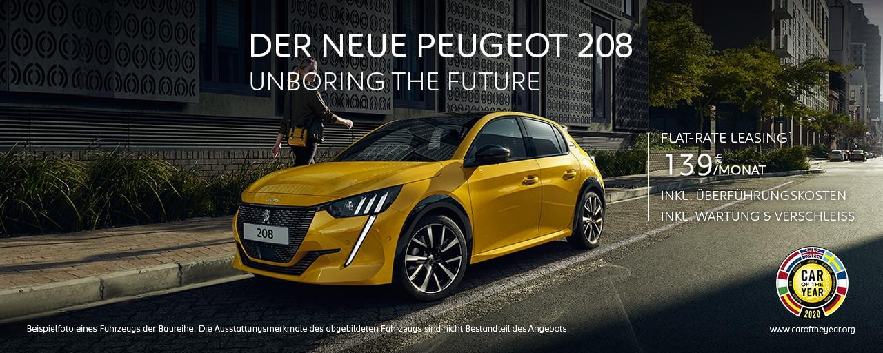 Neuer PEUGEOT 208 – Neuwagen Angebot jetzt entdecken