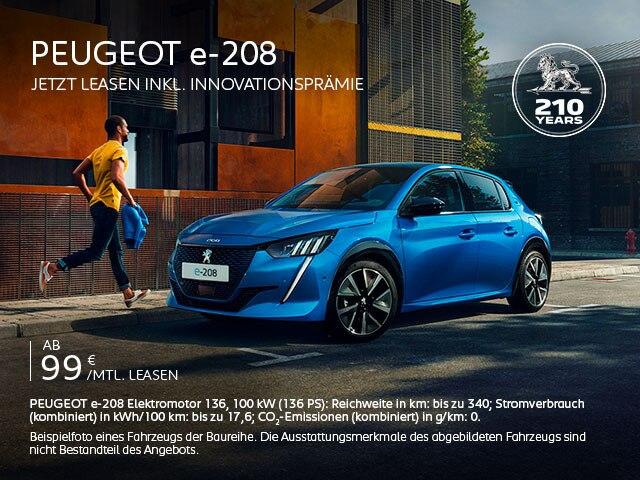 Elektroauto Kleinwagen PEUGEOT e-208 entdecken