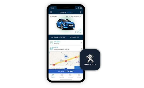 NEUER PEUGEOT e-208 – App MyPeugeot