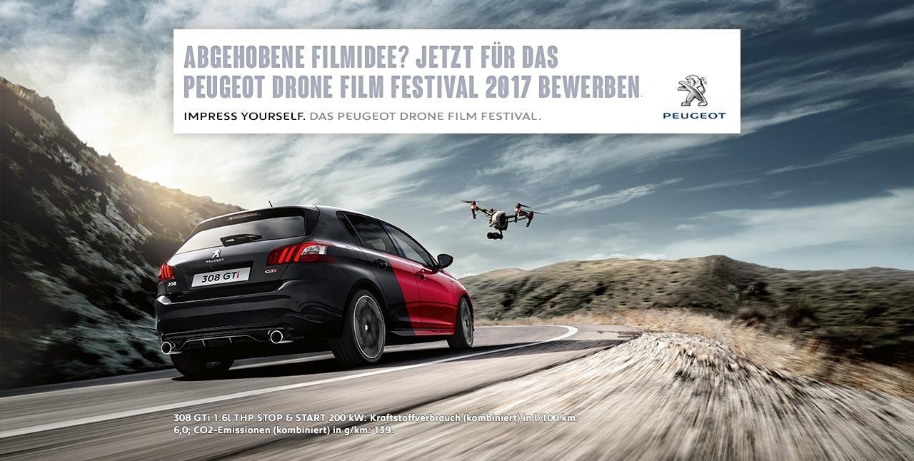 Drone film festival peugeot