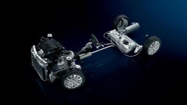 Darstellugn des Antriebsstrangs des Kompaktwagens PEUGEOT 208